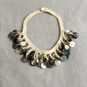 Crocheted choker with old buttons